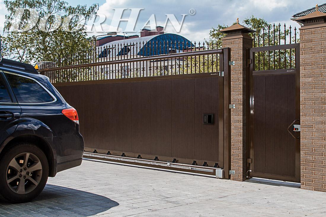 Фото откатные ворота сдвижные ворота автоматические ворота монтаж видео гранд лайн